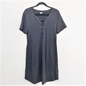 Cable & Gauge |Black CrissCross Front Dress Size L